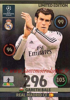 2014-15 - Adrenalyn XL champions League Update edition N° LEU-GB - Gareth BALE (Real Madrid) (Limited Edition)