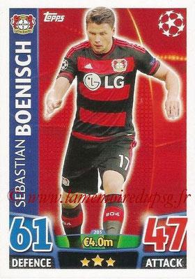 2015-16 - Topps UEFA Champions League Match Attax - N° 203 - Sebastian BOENISCH (Bayer 04 Leverkusen)