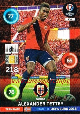 Panini Road to Euro 2016 Cards - N° 130 - Alexander TETTEY (Norvège)