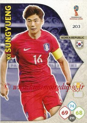 2018 - Panini FIFA World Cup Russia Adrenalyn XL - N° 203 - Ki SUNG-YUENG (Corée du Sud)