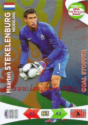 2014 - Panini Road to FIFA World Cup Brazil Adrenalyn XL - N° 215 - Maarten STEKELENBURG (Pays-Bas) (Goal Stopper)