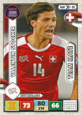 2018 - Panini Road to FIFA World Cup Russia Adrenalyn XL - N° SUI12 - Valentin STOCKER (Suisse)