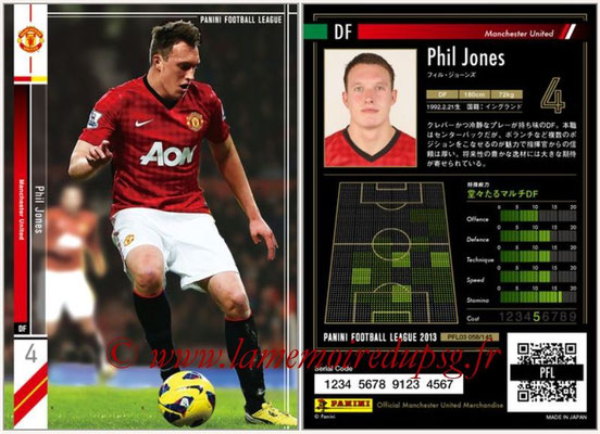 Panini Football League 2013 - PFL03 - N° 058 - Phil Jones (Manchester United)