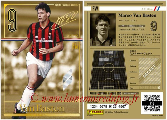 Panini Football League 2013 - PFL03 - N° 144 - Marco Van Basten (Milan AC) (Legend)