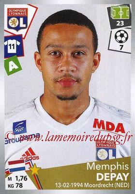 2017-18 - Panini Ligue 1 Stickers - N° 198 - Memphis DEPAY (Lyon)