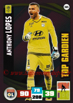 2016-17 - Panini Adrenalyn XL Ligue 1 - N° 365 - Anthony LOPES (Lyon) (Top Gardien)