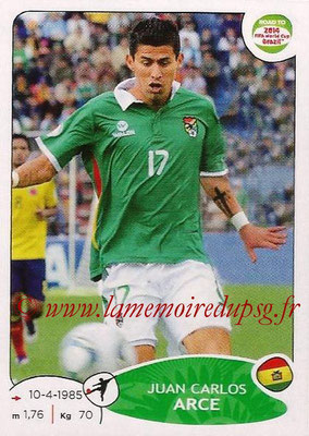 2014 - Panini Road to FIFA World Cup Brazil Stickers - N° 158 - Juan Carlos ARCE (Bolivie)