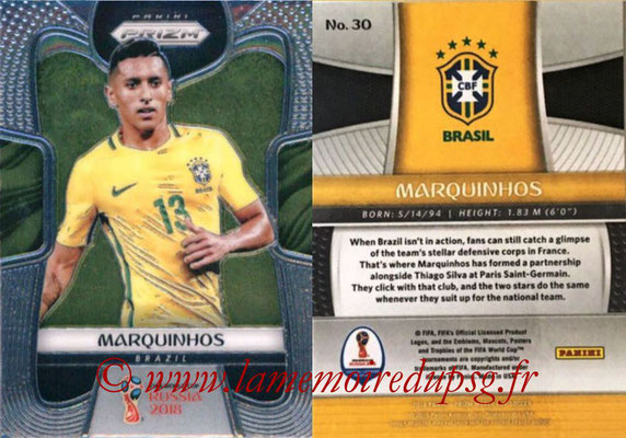 2018 - Panini Prizm FIFA World Cup Russia - N° 030 - MARQUINHOS (Bresil)