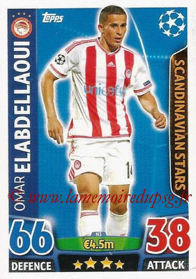2015-16 - Topps UEFA Champions League Match Attax - N° N03 - Omar ELABDELLAOUI (Olympiacos FC) (Scandinavian Stars) (Nordic Edition)