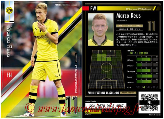Panini Football League 2013 - PFL01 - N° 143 - Marco Reus ( BV Borussia 09 Dortmund )