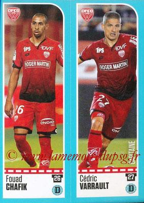 2016-17 - Panini Ligue 1 Stickers - N° 178 + 179 - Fouad CHAFIK + Cédric VARRAULT (Dijon)
