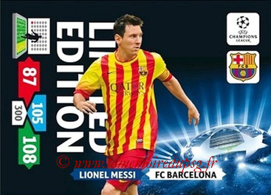 2013-14 - Adrenalyn XL champions League N° LE09 - Lionel MESSI (FC Barcelone) (Limited Edition)
