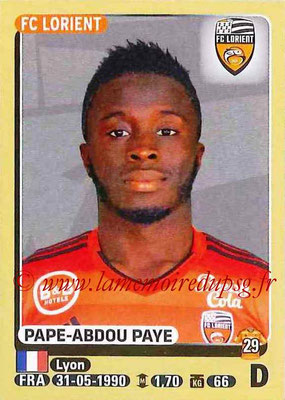 2015-16 - Panini Ligue 1 Stickers - N° 179 - Pape-Abdou PAYE (FC Lorient)