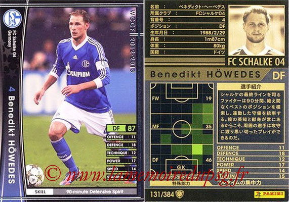2012-13 - WCCF - N° 131 - Benedikt HÖWEDES (FC Schalke 04)