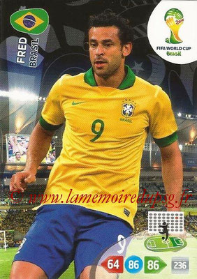 2014 - Panini FIFA World Cup Brazil Adrenalyn XL - N° 058 - FRED (Brésil)