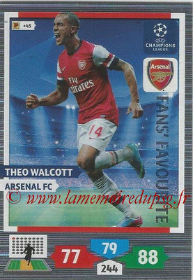 2013-14 - Adrenalyn XL champions League N° 291 - Theo WALCOTT (Arsenal FC) (Fans' Favourite)