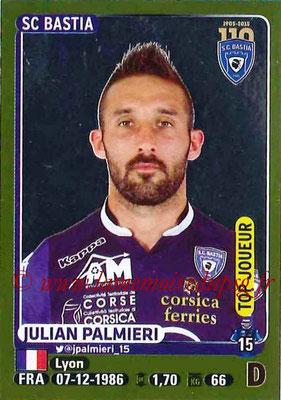 2015-16 - Panini Ligue 1 Stickers - N° 055 - Julian PALMIERI (SC Bastia) (Top joueur)