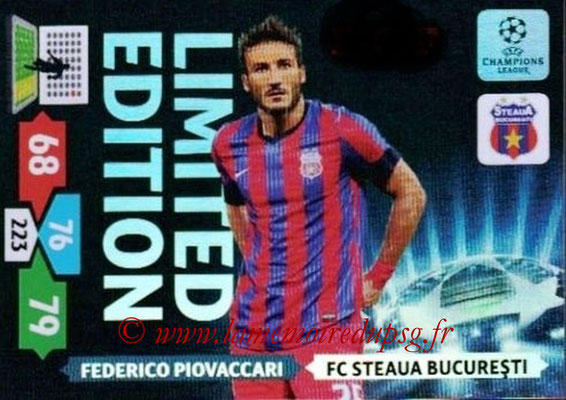 2013-14 - Adrenalyn XL champions League N° LE52 - Federico PIOVACCARI (FC Steaua Bucarest) (Limited Edition)