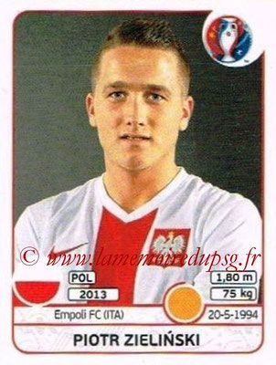 Panini Euro 2016 Stickers - N° 308 - Piotr ZIELINSKI (Pologne)