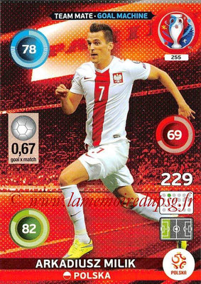 Panini Euro 2016 Cards - N° 255 - Arkadiusz MILIK (Pologne) (Goal Machine)