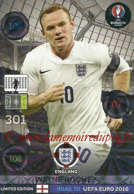 Panini Road to Euro 2016 Cards - N° LE-WR - Wayne ROONEY (Angleterre) (Limited Edition)