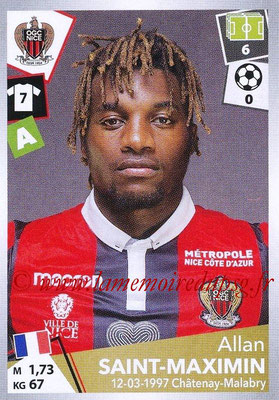 2017-18 - Panini Ligue 1 Stickers - N° 358 - Allan SAINT-MAXIMIN (Nice)