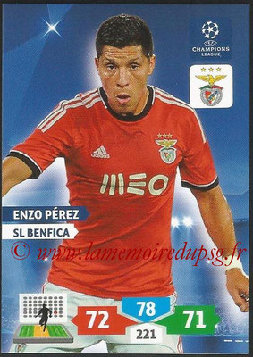 2013-14 - Adrenalyn XL champions League N° 095 - Enzo PEREZ (SL Benfica)