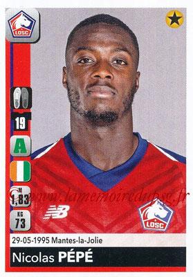 2018-19 - Panini Ligue 1 Stickers - N° 170 - Nicolas PEPE (Lille)