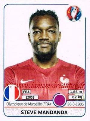Panini Euro 2016 Stickers - N° 018 - Steve MANDANDA (France)