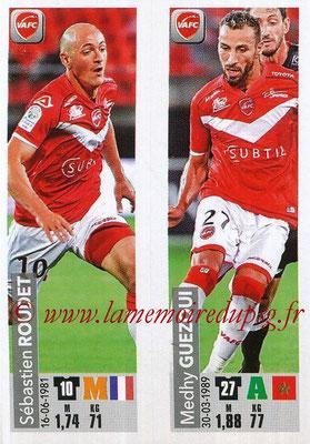 2018-19 - Panini Ligue 1 Stickers - N° 562 - Sébastien ROUDET + Medhy GUEZOUI (Valenciennes AFC)