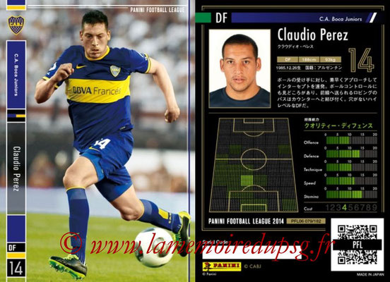 Panini Football League 2014 - PFL06 - N° 079 - Claudio PEREZ (CA Boca Juniors)