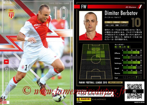 Panini Football League 2015 - PFL11 - N° 057 - Dimitar BERBATOV (AS Monaco) (Star)