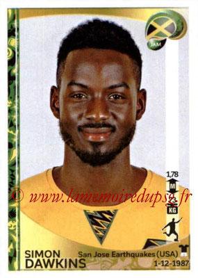Panini Copa America Centenario USA 2016 Stickers - N° 275 - Simon DAWKINS (Jamaïque)