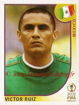 2002 - Panini FIFA World Cup Stickers - N° 503 - Victor RUIZ (Mexique)