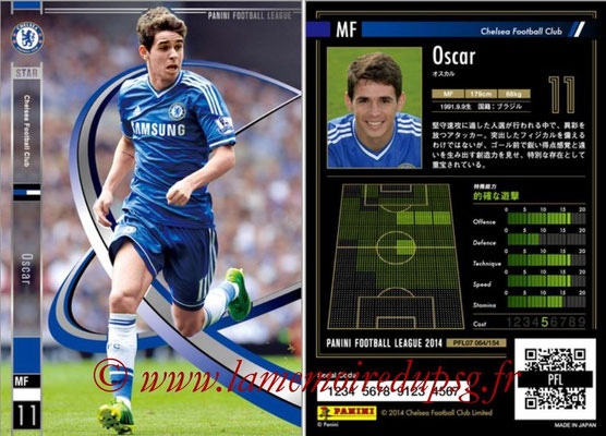 Panini Football League 2014 - PFL07 - N° 064 - Oscar (Chelsea FC) (Star)