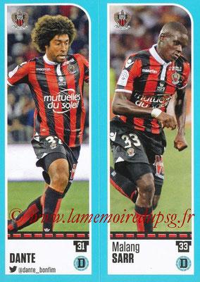 2016-17 - Panini Ligue 1 Stickers - N° 642 + 643 - DANTE + Malang SARR (Nice)