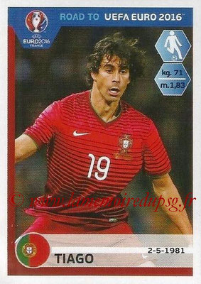 Panini Road to Euro 2016 Stickers - N° 232 - TIAGO (Portugal)