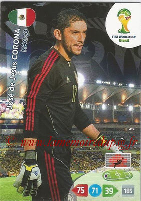 2014 - Panini FIFA World Cup Brazil Adrenalyn XL - N° 242 - José de Jesus CORONA (Mexique)