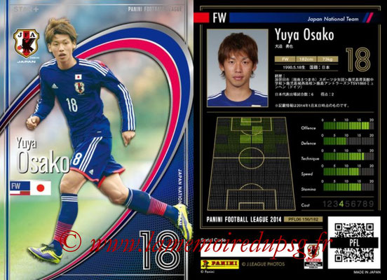 Panini Football League 2014 - PFL06 - N° 156 - Yuya OSAKO (Japon) (Star +)