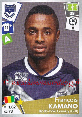 2017-18 - Panini Ligue 1 Stickers - N° 069 - François KAMANO (Bordeaux)
