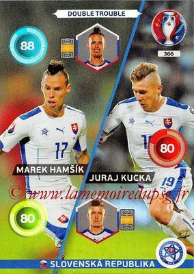 Panini Euro 2016 Cards - N° 366 - Marek HAMSIK + Juraj KUCKA (Slovenie) (Double Trouble)