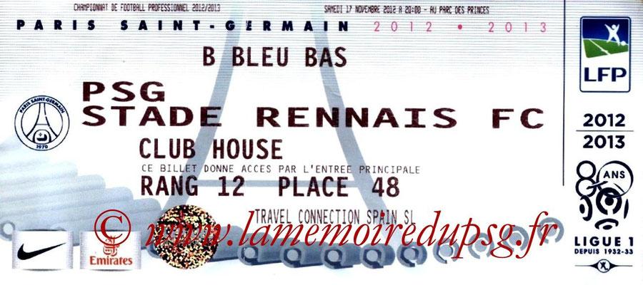 Tickets  PSG-Rennes  2012-13
