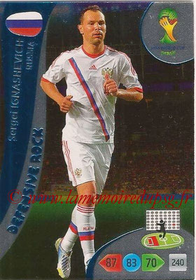 2014 - Panini FIFA World Cup Brazil Adrenalyn XL - N° 377 - Sergei IGNASHEVICH (Russie) (Defensive Rock)