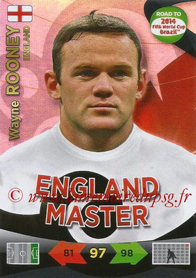 2014 - Panini Road to FIFA World Cup Brazil Adrenalyn XL - N° 225 - Wayne ROONEY (Angleterre) (Master)