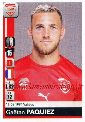 2018-19 - Panini Ligue 1 Stickers - N° 333 - Gaëtan PAQUIEZ (Nîmes)