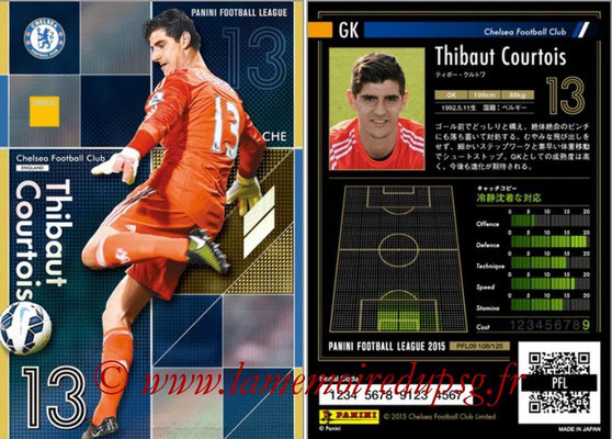Panini Football League 2015 - PFL09 - N° 108 - Thibaut COURTOIS (Chelsea FC) (Super GK)