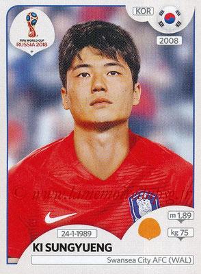 2018 - Panini FIFA World Cup Russia Stickers - N° 502 - Ki SUNGYUENG (Corée du Sud)
