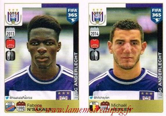 2015-16 - Panini FIFA 365 Stickers - N° 138-139 - Fabrice N'SAKALA + Michaël HEYLEN (RSC Anderlecht)