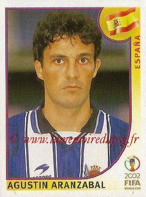 2002 - Panini FIFA World Cup Stickers - N° 104 - Agustin ARANZABAL (Espagne)