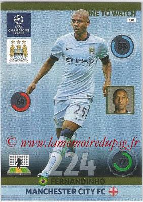 2014-15 - Adrenalyn XL champions League N° 178 - FERNANDINHO (Manchester City FC) (One to watch)